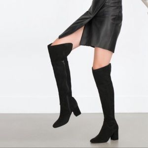 Zara over the knee boots 🎉Host pick🎉